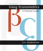 Using Econometrics: A Practical Guide, 6/E 6th Edition A.H. Studenmund Solution Manual