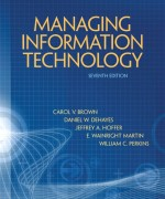 Managing Information Technology, 7/E 7th Edition Test Bank
