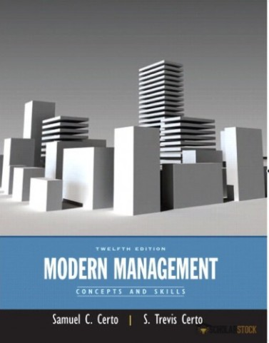 Modern Management: Concepts and Skills, 12/E 12th Edition : 0132622610 Test Bank