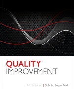 Quality Improvement, 9/E 9th Edition Dale H. Besterfield Solution Manual