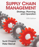Supply Chain Management 5th Edition by Chopra & Meindl Test Bank