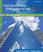 Data Abstraction & Problem Solving with C++: Walls and Mirrors, 6/E 6th Edition Frank M. Carrano, Timothy Henry Solution Manual