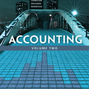Accounting, Volume 2, Ninth Canadian Edition 9/E 9th Edition : 133098729 Solution Manual