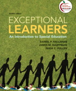 Exceptional Learners: An Introduction to Special Education, 12/E 12th Edition Daniel P. Hallahan, James M. Kauffman, Paige C. Pullen Test Bank