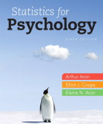 Statistics for Psychology 6/E 6th Edition Arthur Aron, Elaine N. Aron, Elliot Coups Test Bank
