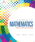 A Survey of Mathematics with Applications 9E Allen R. Angel, Christine Abbott. Dennis C. Runde Test Bank