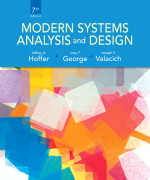 Modern Systems Analysis and Design, 7/E 7th Edition Jeffrey A. Hoffer, Joey George, Joe Valacich Test Bank