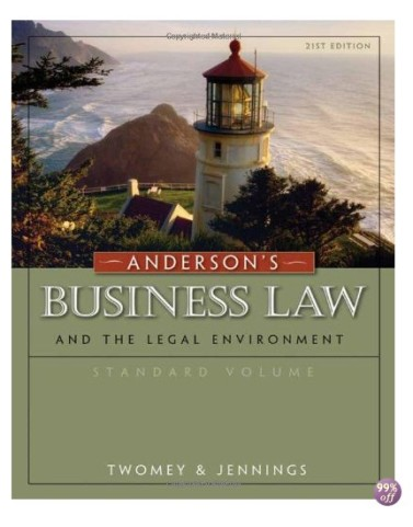 Andersons Business Law and the Legal Environment 21st Edition by Twomey Test Bank