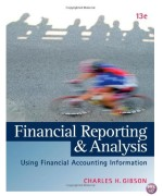 Financial Reporting and Analysis 13th Edition by Gibson Test Bank