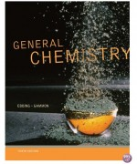 General Chemistry 10th Edition by Ebbing Solution Manual