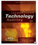Information Technology Auditing 3rd Edition by Hall Solution Manual