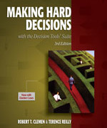 Making Hard Decisions with DecisionTools, 3rd Edition Robert T. Clemen, Terence Reilly Solution Manual