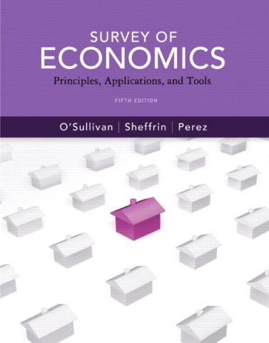 Survey of Economics Principles Applications and Tools 5th Edition by OSullivan Test Bank