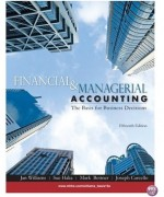Financial and Managerial Accounting 15th edition by Williams Solution Manual