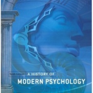 A History of Modern Psychology, 10th Edition: Duane P. Schultz Test Bank
