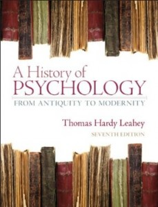 A History of Psychology From Antiquity to Modernity, 7th Edition : Leahey Test Bank