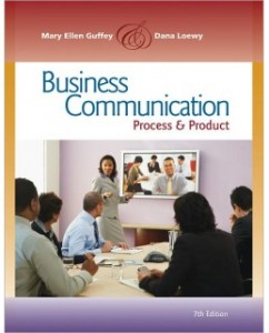 Business Communication, 7th Edition: Mary E. Guffey Test Bank