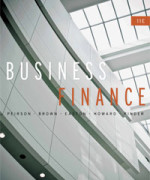 Business Finance, 11th Edition : Peirson Test Bank