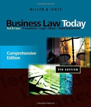 Test Bank for Business Law Today Comprehensive Miller Jentz 9th Edition