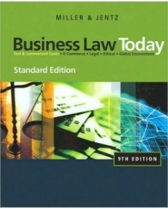 Business Law Today, Standard Edition, 9th Edition: Roger L. Miller Test Bank
