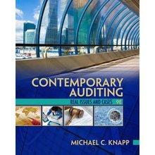 Contemporary Auditing Knapp 9th Edition Solutions Manual