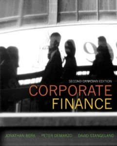 Corporate Finance, 2nd Canadian Edition : Berk Test Bank