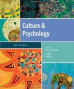 Culture and Psychology, 5th Edition : Matsumoto Test Bank