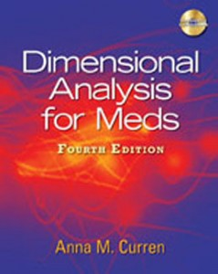Dimensional Analysis for Meds, 4th Edition: Curren Test Bank