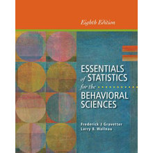 Test Bank for Essentials of Statistics for the Behavioral Sciences Gravetter 8th Edition
