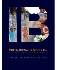 IB International Business 13th Edition John Daniels Test Bank