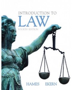 Introduction to Law, 4th Edition: Joanne B. Hames Test Bank
