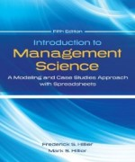 Introduction to Management Science, 5 Edition : Frederick Hillier Test Bank