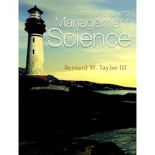 Test Bank for Introduction to Management Science Taylor 11th Edition