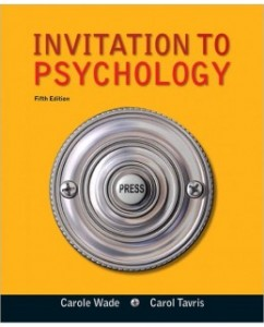 Invitation to Psychology, 5th Edition: Carole Wade Test Bank