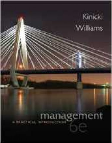 Test Bank for Management A Practical Introduction Kinicki 6th Edition