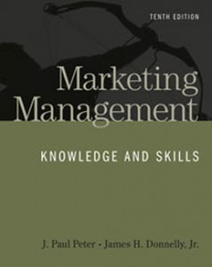 Marketing Management Knowledge and Skills, 10th Edition: Peter Test Bank