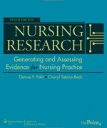 Nursing Research: Generating and Assessing Evidence for Nursing Practice, 9th edition: Denise F. Polit Test Bank