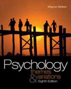 Psychology Themes and Variations, 8th Edition: Weiten Test Bank