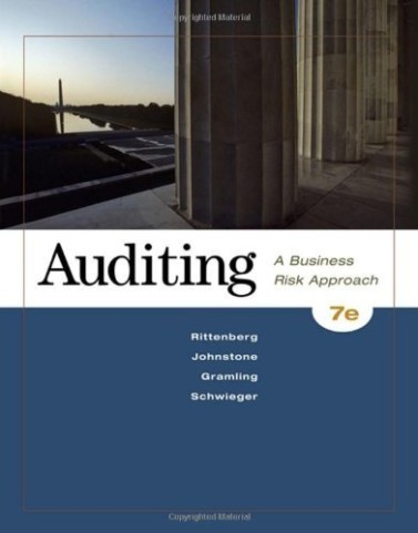 Auditing: A Business Risk Approach Rittenberg Johnstone Gramling 7th Edition Solutions Manual