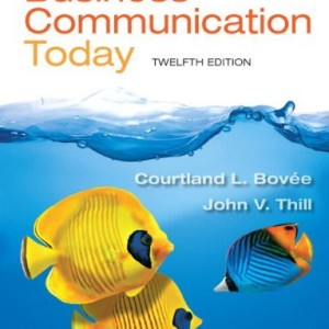 Business Communication Today Bovee 12th Edition Solutions Manual