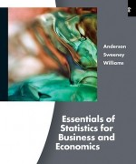 Test Bank for Essentials of Statistics for Business and Economics Anderson 6th Edition