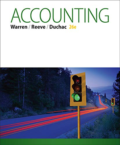 Test Bank For Accounting (Text Only) 26th Edition