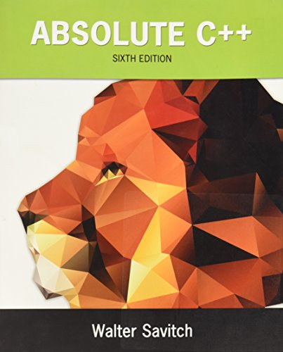Test Bank For Absolute C++ (6th Edition) 6th Edition