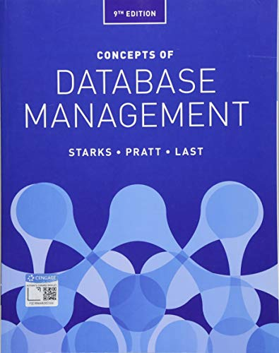 Test Bank For Concepts of Database Management 9th Edition