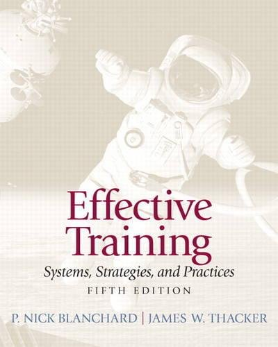 Test Bank For Effective Training (5th Edition) 5th Edition