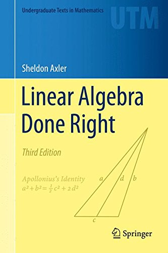 Test Bank For Linear Algebra Done Right (Undergraduate Texts in Mathematics) 3rd ed. 2015 Edition