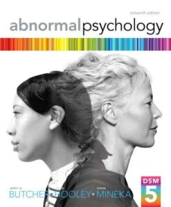 Test Bank For Abnormal Psychology (16th Edition) 16th Edition