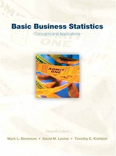 Test Bank For Basic Business Statistics (11th Edition) 11th Edition