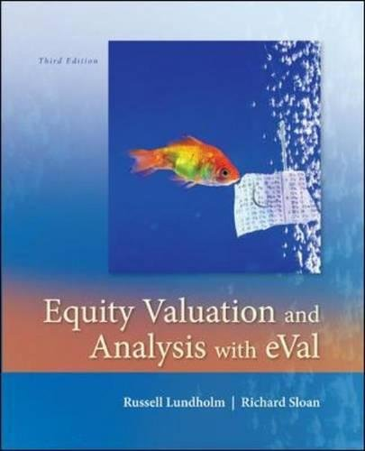 Test Bank For Equity Valuation and Analysis w/eVal 3rd Edition