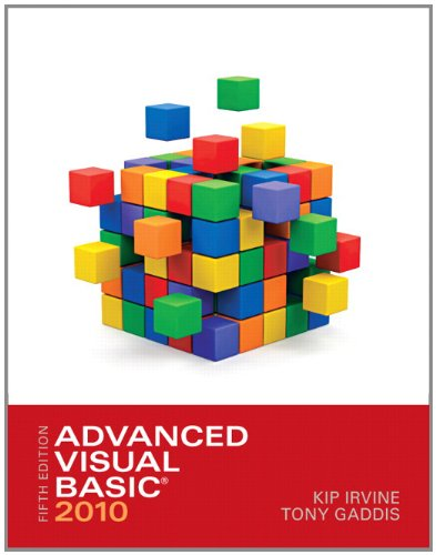Test Bank For Advanced Visual Basic 2010 (5th Edition) 5th Edition